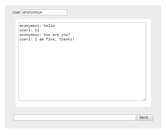 WebSocket chat client
