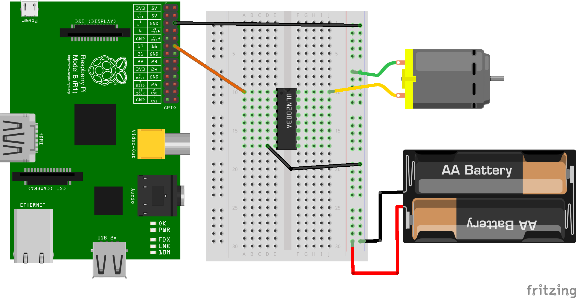 raspberry pi control motor speed java tutorial network
