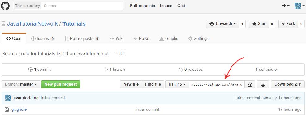 GitHub repository path