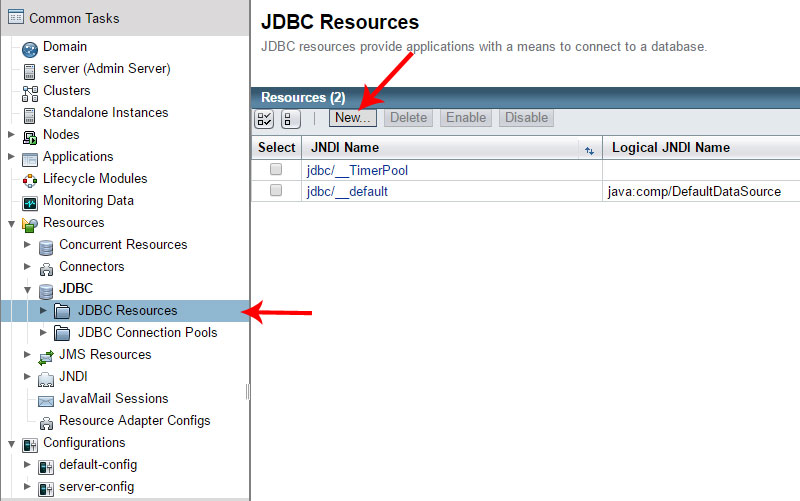 Glassfish JDBC-resources
