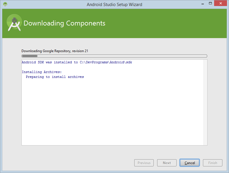 Step 10: Download components