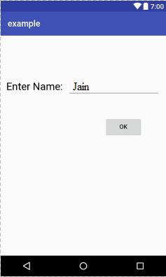 Application screen