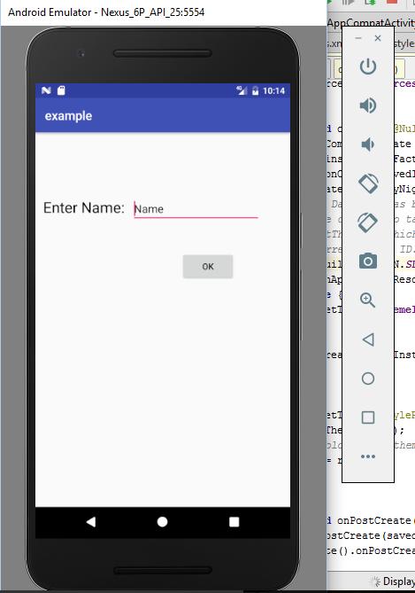 App on emulator
