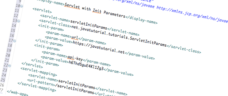 Using init-param and context-param to configure Java web apps