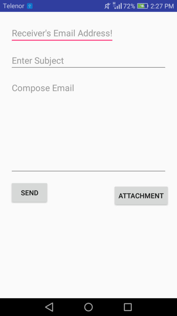 Email with attachment example