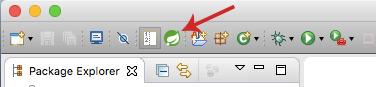 Spring dashboard icon in toolbar