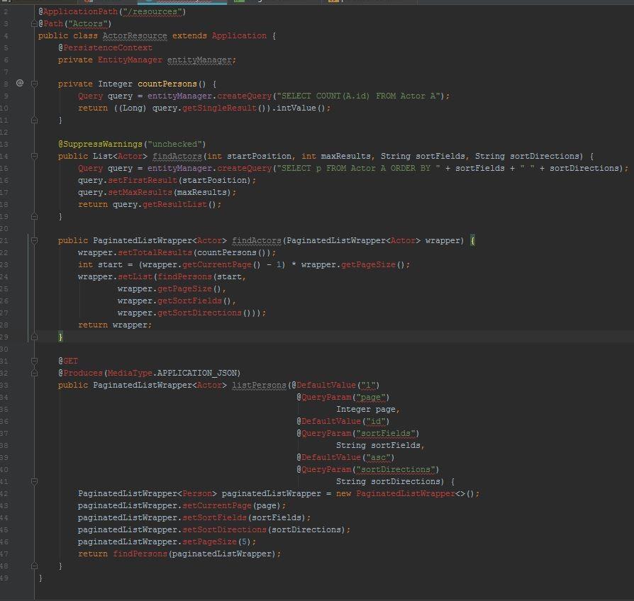 Web-service class