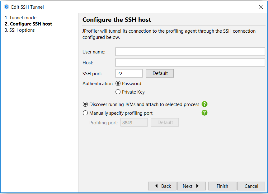 Configure SSH host