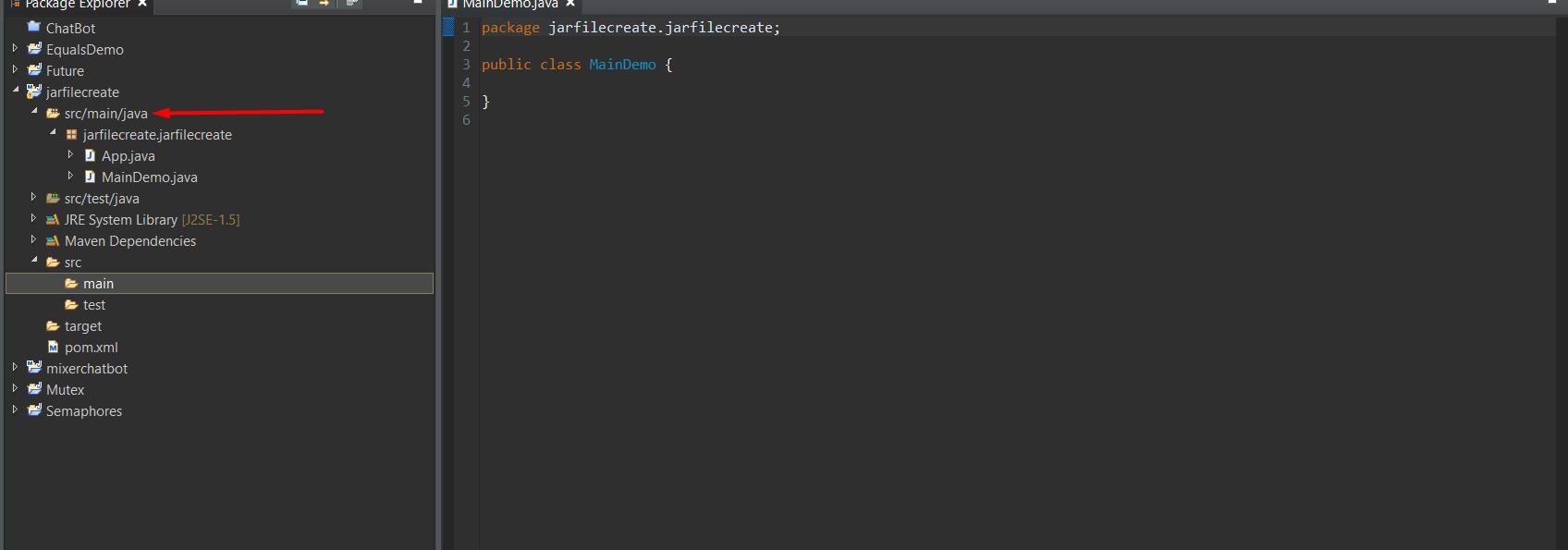 java jar file create maven eclipse project
