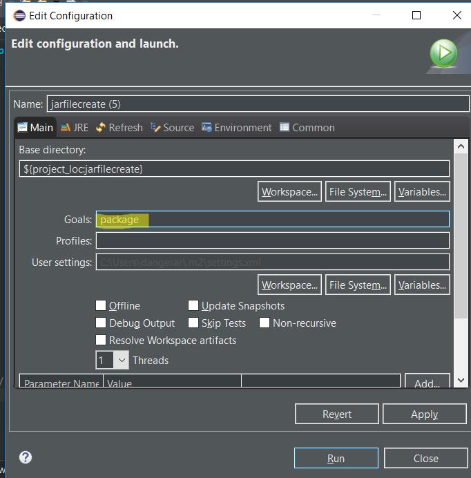 maven install jar create file java