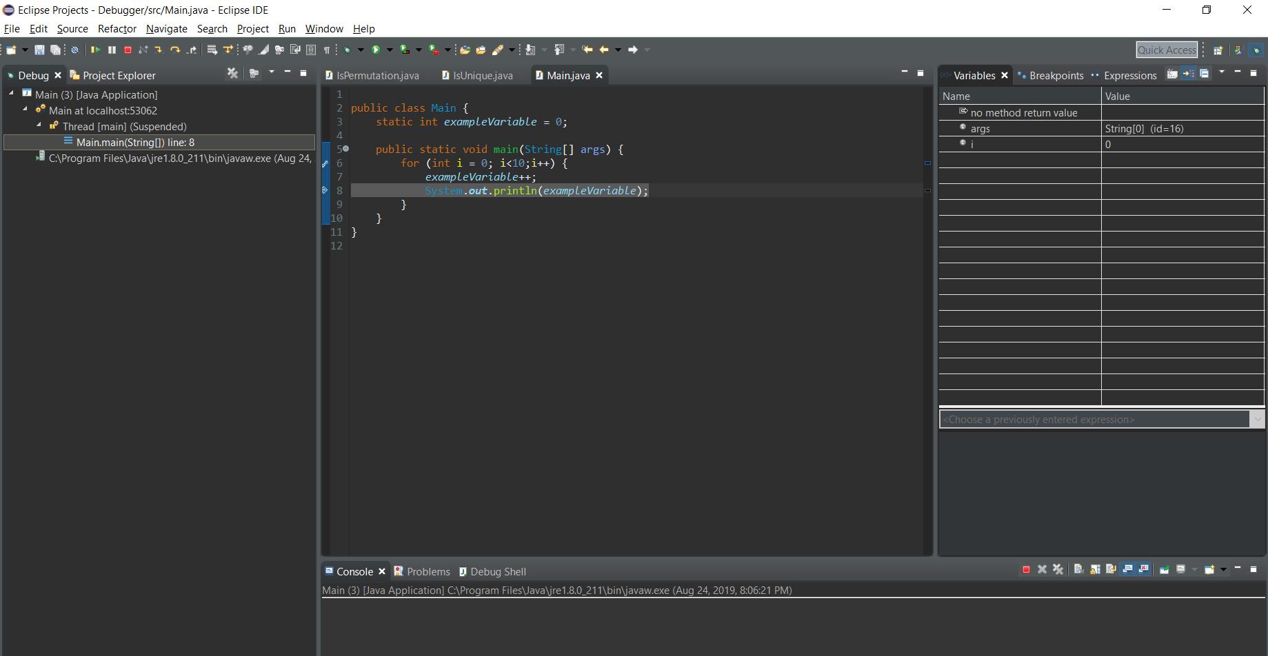 Step 2 debugger process