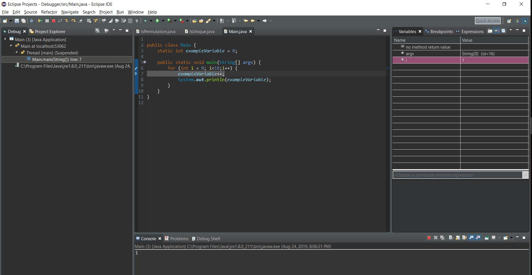 Step 4 debugger process
