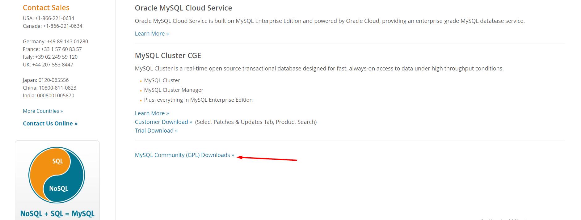 Community Downloads MySQL