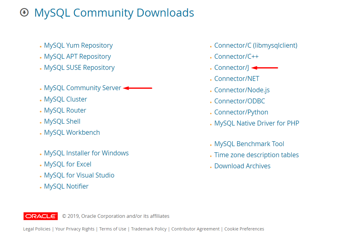 Community server and Java development MySQL