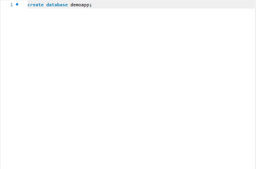 create database mysql java